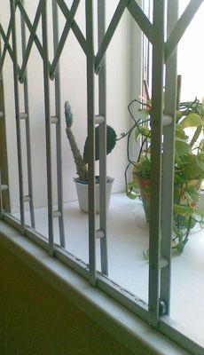 Раздвижная решетка из спаренной стальной полосы